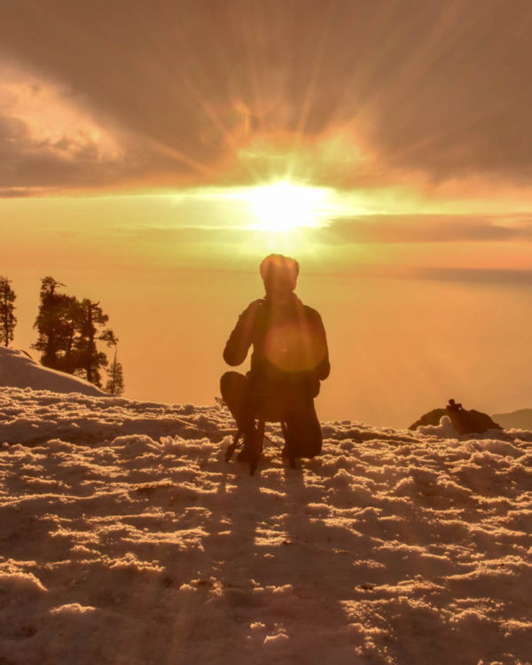 Sunset at Triund Hill