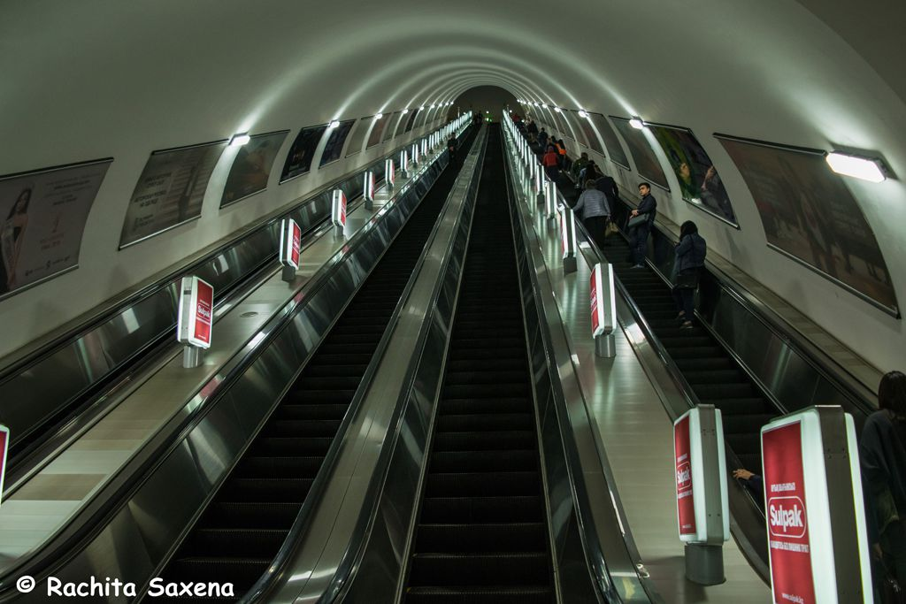 Metro Station in Almaty City